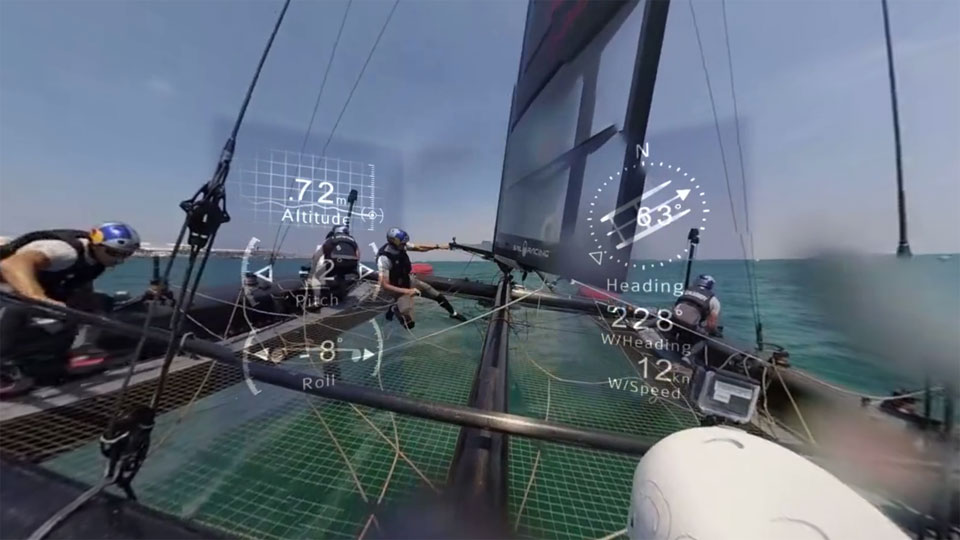 On-board the America's Cup